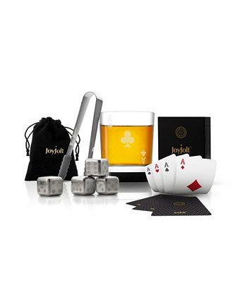 Подарочный набор виски Poker Ace of Clubs JoyJolt