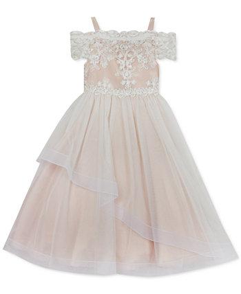 Кружевное платье для девочек с открытыми плечами Rare Editions