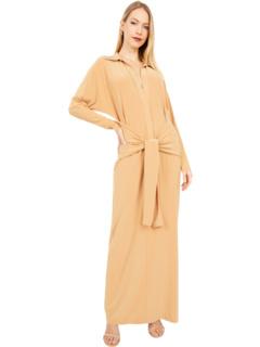 Платье-рубашка Ty с вырезом спереди до середины икры KAMALIKULTURE by Norma Kamali