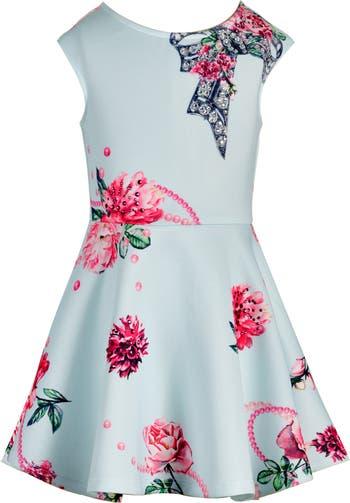 Платье с пайетками и цветочным принтом Hannah Banana
