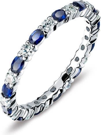 Стерлинговое серебро Сентябрьский камень, рожденный в камне, наращиваемое кольцо с имитацией бриллианта LaFonn