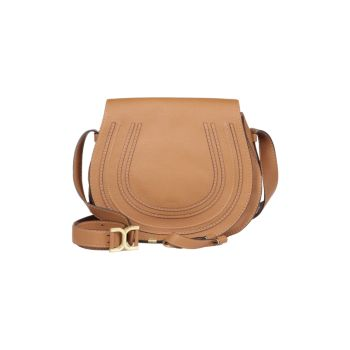 Medium Marcie Leather Saddle Bag Chloe