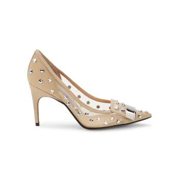 Embellished Point-Toe Pumps Sergio Rossi