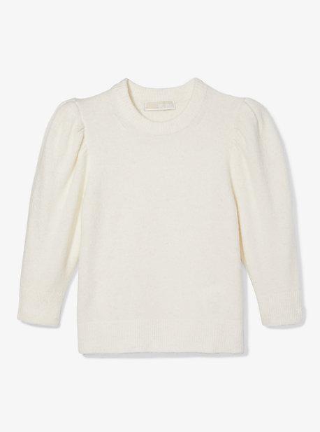 Укороченный свитер с вязаным рукавом Michael Kors