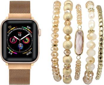 Сменный ремешок и браслет для Apple Watch с узкой металлической петлей - 42 мм / 44 мм POSH TECH