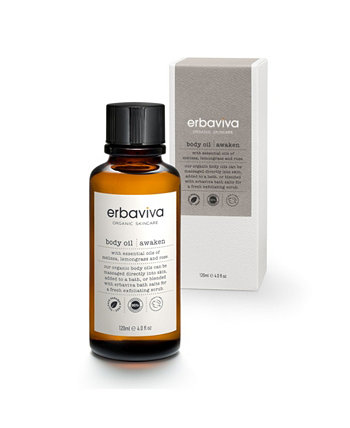 Пробудить масло для тела, 4 жидких унции ERBAVIVA