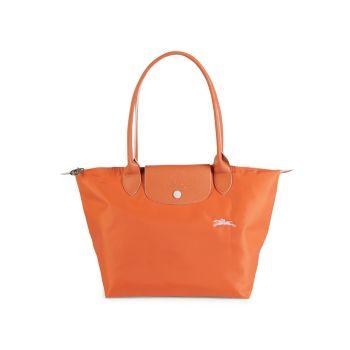 Маленькая сумка-тоут Le Pliage Club с кожаной отделкой LONGCHAMP
