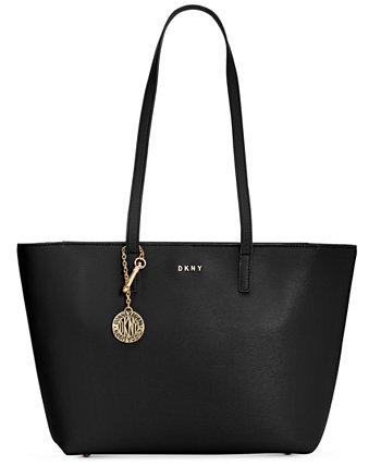 Кожаная сумка-тоут Sutton Bryant среднего размера DKNY