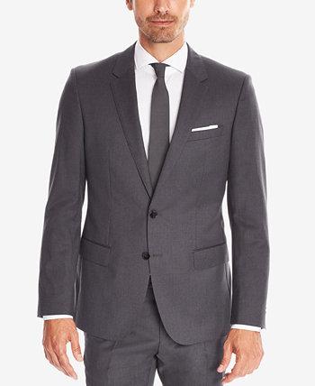 Мужское спортивное пальто BOSS Slim-Fit Super 120 из итальянской шерсти BOSS Hugo Boss