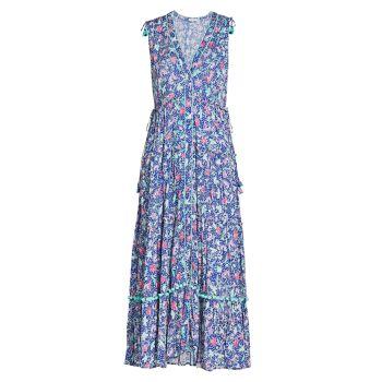 Макси-платье с принтом Ivy Poupette St Barth
