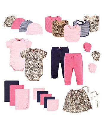Набор для девочек Layette Start Подарочный набор для детского душа, набор из 25 Hudson Baby