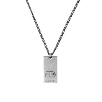 Ожерелье BB из серебра с подвеской Balenciaga