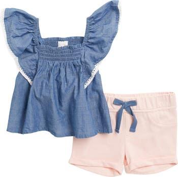 Топ со сборками и шортами с оборками BCBG Girls