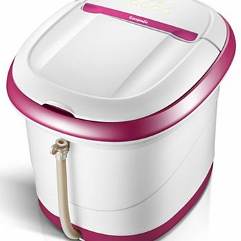 Touch Screen Oxy-Energized Water Jet Foot & Leg Spa Bath Massager - Purple & White Medmaster