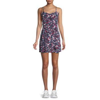 Мини-платье с цветочным принтом Calvin Klein Jeans
