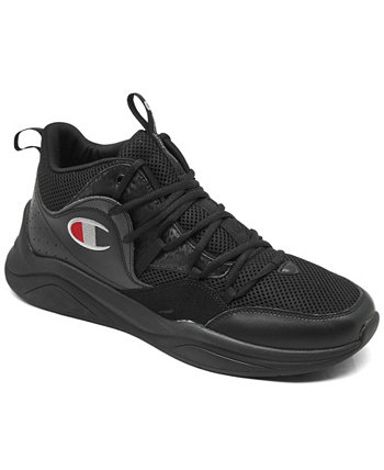 Men's Recruit Hi Casual Sneakers from Finish Line Champion