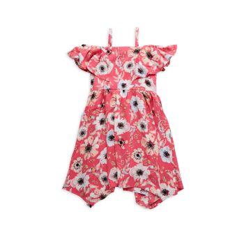 Платье для девочки с открытыми плечами и цветочным рисунком BCBG Girls