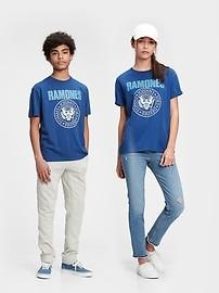 Подросток | Футболка оверсайз с рисунком Ramones из переработанного материала Gap