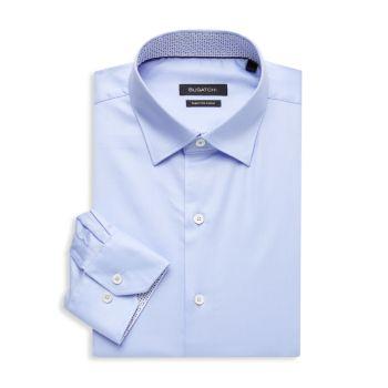 Фактурная классическая рубашка стандартного кроя BUGATCHI