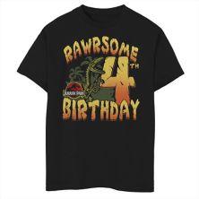 Футболка для мальчиков 8-20 Jurassic Park Rawrsome с рисунком на четвертый день рождения Jurassic Park