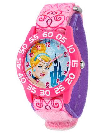 Розовые пластиковые часы для девочек Disney Cinderella Girls Ewatchfactory