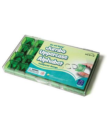 Смотрите и печать - прозрачные Jumbo прописные буквы алфавита Educational Insights