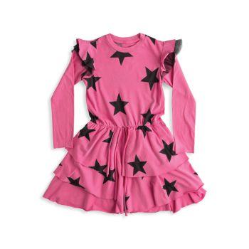 Маленькая девочка & amp; Многослойное платье Girl's Star Nununu