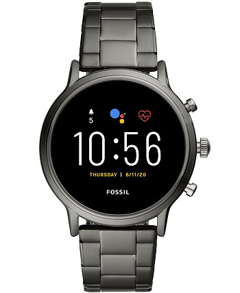 Смарт-часы Tech Gen 5 Carlyle HR с дымчатым браслетом, 44 мм, работают от Wear OS от Google Fossil