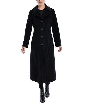 Single-Breasted Maxi Coat, Created for Macy's Anne Klein