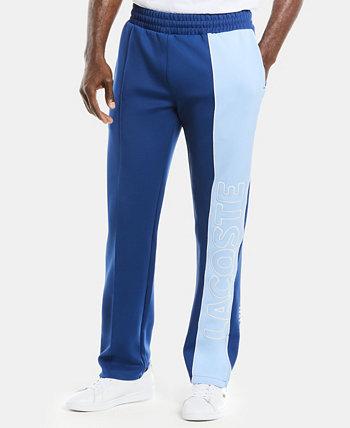Мужские спортивные брюки из неопрена LIVE с цветными блоками, полосой по бокам и логотипом Lacoste