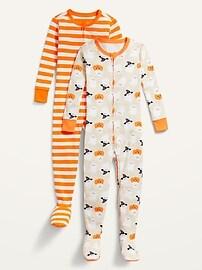Комплект из двух сплошных пижам унисекс для малышей и малышей Footie Pajama Old Navy