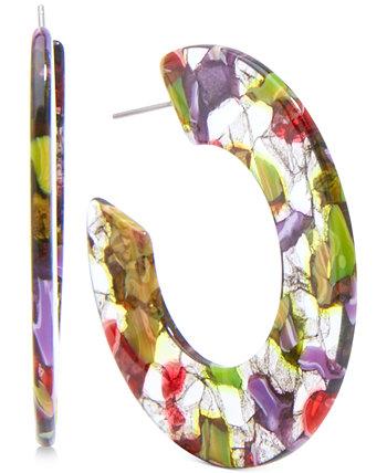 Открытые серьги-кольца среднего размера из ацетата, 2 дюйма Zenzii