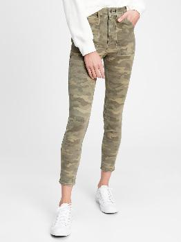 High Rise Camo Universal Legging Jeans With Washwell™ Gap Factory