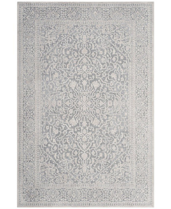 Reflection Light Blue and Cream 6' x 9' Area Rug Safavieh