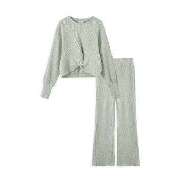 Big Girl's 2-Piece Sweater & Wide-Leg Pants Set Habitual