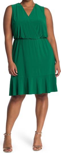 Sleeveless Ruffle Hem Dress Eliza J