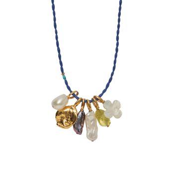 Ожерелье с подвеской из лазурита с покрытием из 18-каратного золота Lizzie Fortunato