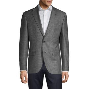 Шерстяной пиджак обычного кроя Tesse BOSS Hugo Boss