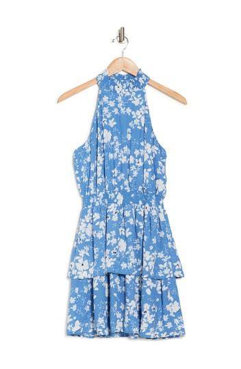 Smocked Halter Floral Dress Collective Concepts