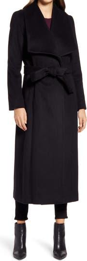 Пальто с запахом из гладкой шерсти COLE HAAN SIGNATURE