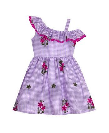 Платье в клетку с вышивкой Little Girls Rare Editions