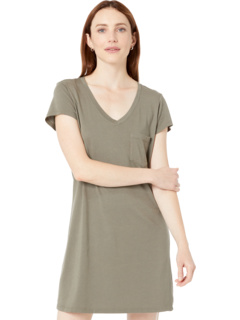 Cotton Modal V-Neck Tee Dress Michael Stars