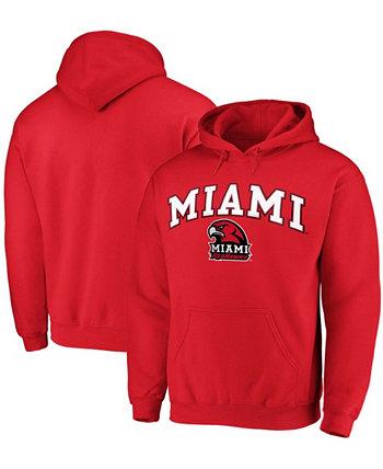 Мужская толстовка с капюшоном Red Miami University RedHawks Campus с капюшоном Fanatics