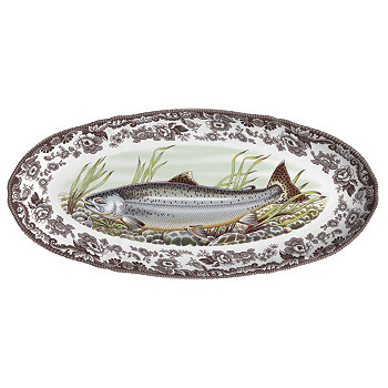 Блюдо из лосося Woodland King Salmon Fish Spode