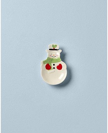 Проведение праздников Snowman Spoon Rest Lenox