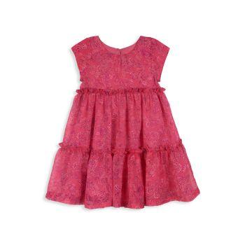 Многослойное платье с узором пейсли для маленьких девочек Pippa & Julie