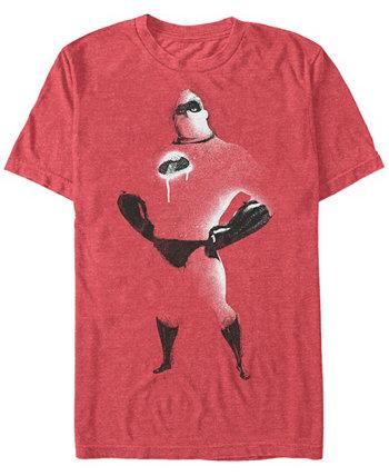 Мужская футболка с рисунком и рисунком с коротким рукавом Disney Pixar Mr. Incredible с коротким рукавом The Incredibles