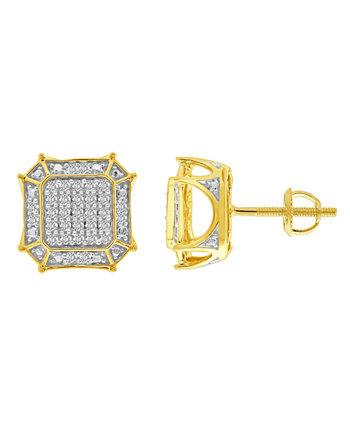 Мужская серьга с бриллиантом (1/3 карата) из желтого золота 10 карат Macy's