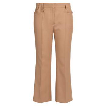 Укороченные расклешенные брюки Carlie Stella McCartney