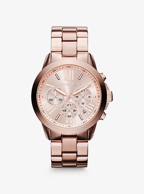 Крупногабаритные розовые золотые часы Bradshaw Michael Kors